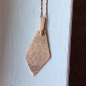 Kendra Scott Brenton long necklace in rose gold
